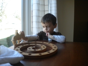 Caleb and the Advent wreath