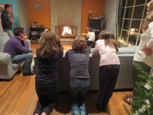 "Burning the ""Old Man"" indoors--too cold outside!"